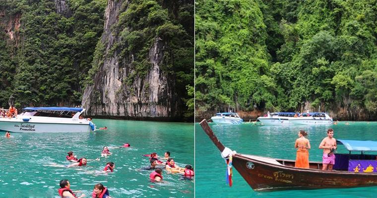 泰国普吉岛碧绿湾,旱鸭子的我也忍不住下水