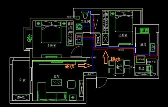 家装水电路施工图