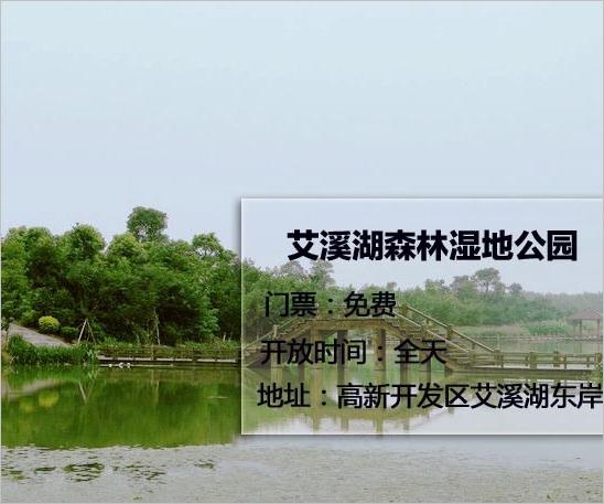 艾溪湖森林湿地公园