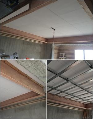 现场和木工师傅学习三级吊顶